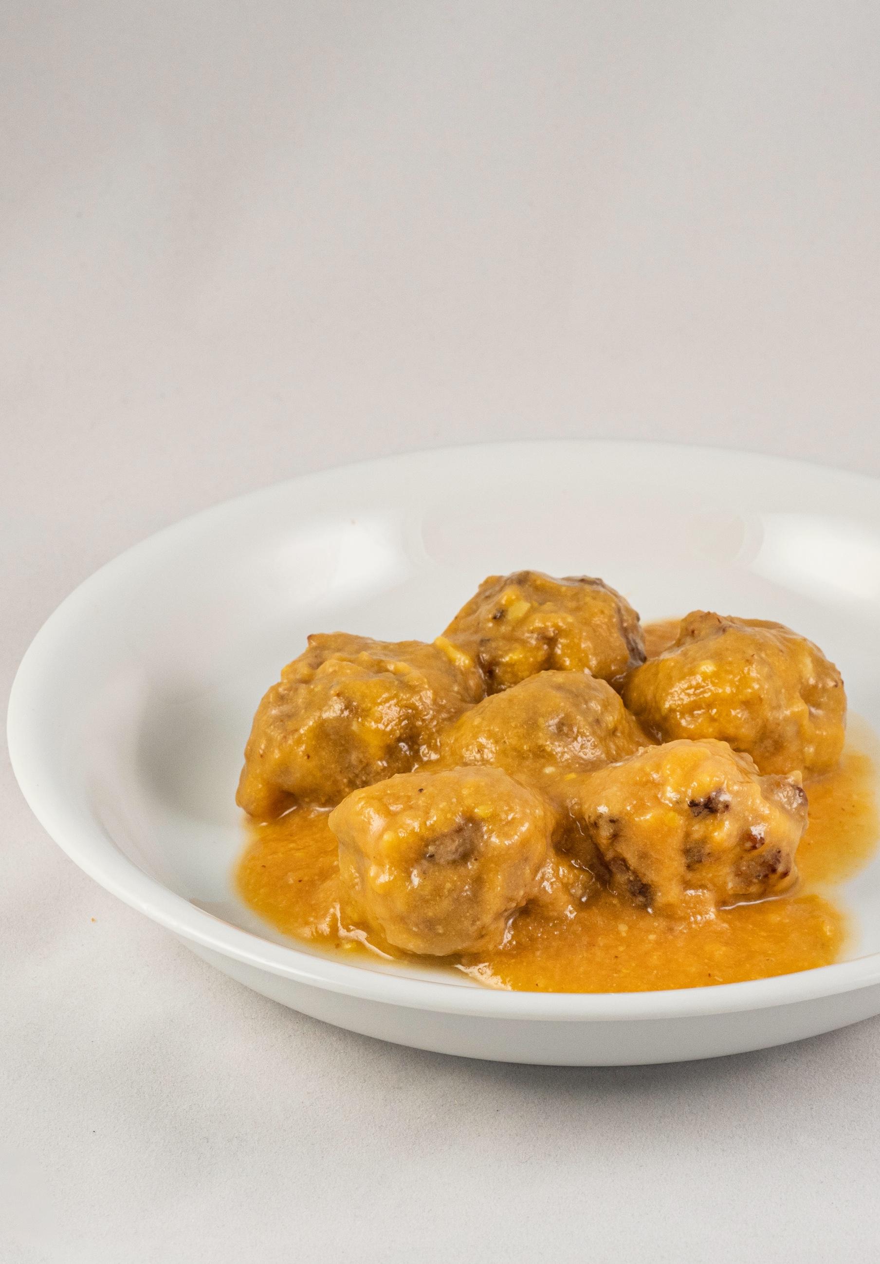 Albóndigas de Abanico Joselito con salsa de azafrán 1