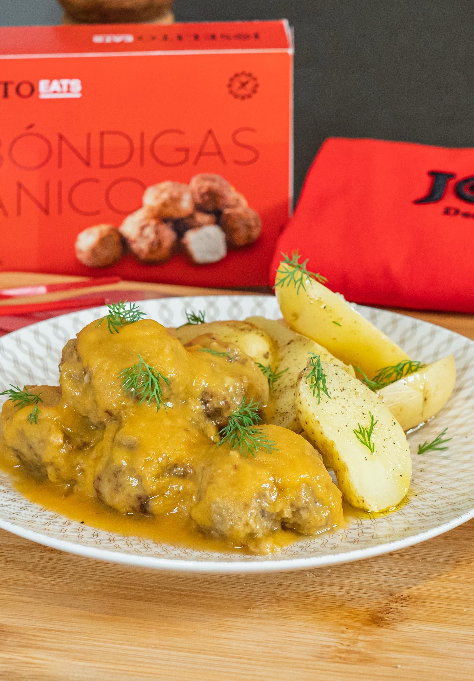 Albóndigas de Abanico Joselito con salsa de azafrán